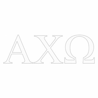 Alpha Chi Omega Greek Letter Window Sticker Decal