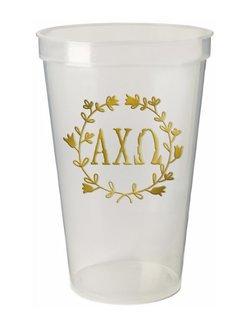 Alpha Chi Omega Greek Wreath Giant Plastic Cup