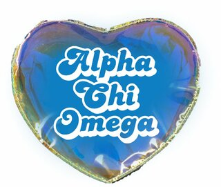 Alpha Chi Omega Heart Shaped Makeup Bag