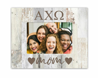Alpha Chi Omega Hearts Faux Wood Picture Frame