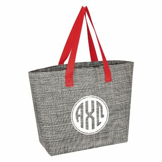 Alpha Chi Omega Heathered Mesh Tote Bag