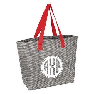 Alpha Chi Omega Heathered Mesh Tote Bag