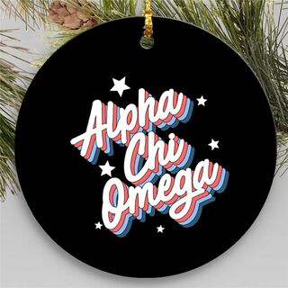 Alpha Chi Omega Holiday Flashback Ornaments