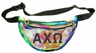 Alpha Chi Omega Holographic Fanny Pack