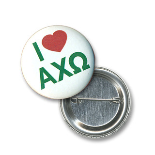 Alpha Chi Omega I Love Mini Sorority Buttons