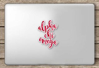 Alpha Chi Omega Script Sticker