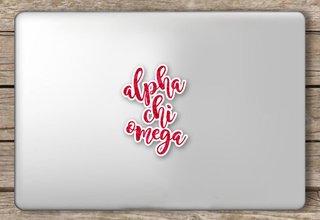 Alpha Chi Omega Script Sticker