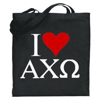 Alpha Chi Omega I Love Tote Bags