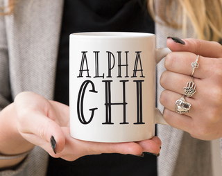 Alpha Chi Omega Inline Coffee Mug