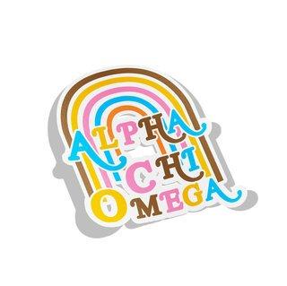 Alpha Chi Omega Joy Decal Sticker