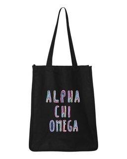 Alpha Chi Omega Jumbo All In Tote Bag
