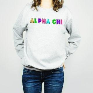 Alpha Chi Omega Leah Crew Sweatshirt