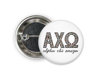 Alpha Chi Omega Leopard Button
