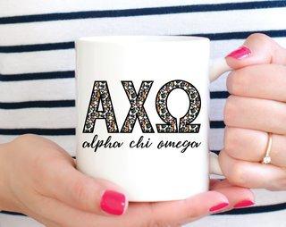Alpha Chi Omega Leopard Mug
