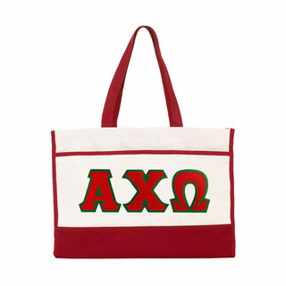 DISCOUNT-Alpha Chi Omega Lettered Contemporary Tote