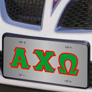 Alpha Chi Omega Lettered License Cover