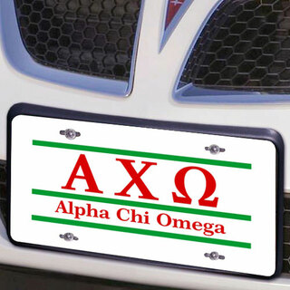 Alpha Chi Omega Lettered Lines License Cover