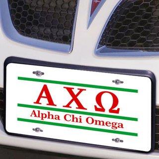 Alpha Chi Omega Lettered Lines License Cover