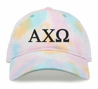 Alpha Chi Omega Lettered Rainbow Cap