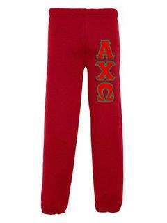 Alpha Chi Omega Lettered Sweatpants