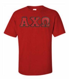 Alpha Chi Omega Lettered T-shirt - MADE FAST!