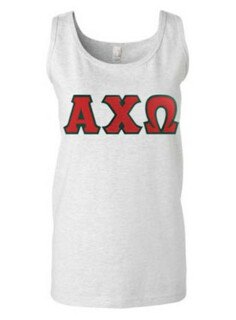 DISCOUNT-Alpha Chi Omega Lettered Ladies Tank Top