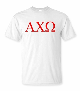 Alpha Chi Omega Lettered Tee - $9.95 - MADE FAST!