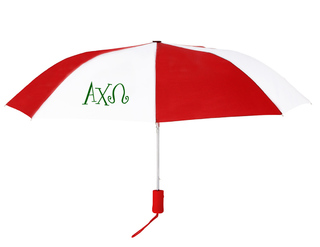 Alpha Chi Omega Lettered Umbrella