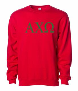 Alpha Chi Omega Lettered World Famous $19.95 Greek Crewneck