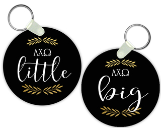 Alpha Chi Omega Lil Sister Keychain