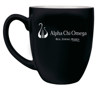 Alpha Chi Omega Logo Bistro Mug