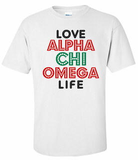 Alpha Chi Omega Love Life Tee