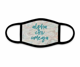 Alpha Chi Omega Marble Face Mask
