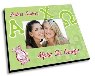 Alpha Chi Omega Mascot Color Picture Frame