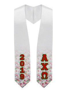 Alpha Chi Omega Flower Graduation Stole