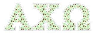 """Alpha Chi Omega Mascot Greek Letter Sticker - 2.5"""" Tall"""