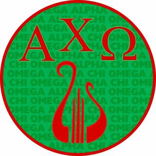 Alpha Chi Omega Mascot Round Decals