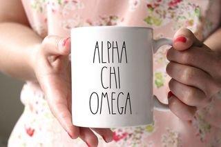 Alpha Chi Omega MOD Coffee Mug