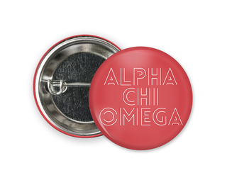 Alpha Chi Omega Modera Button