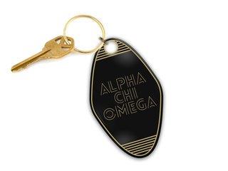 Alpha Chi Omega Modera Motel Keychain
