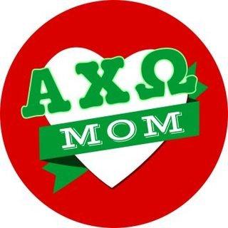 Alpha Chi Omega Mom Round Decals