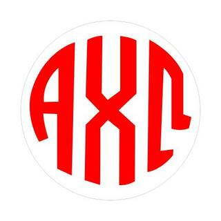 Alpha Chi Omega Monogram Decal