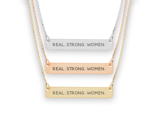 Alpha Chi Omega Motto Bar Necklace