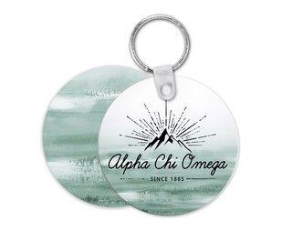 Alpha Chi Omega Mountain Key Chain