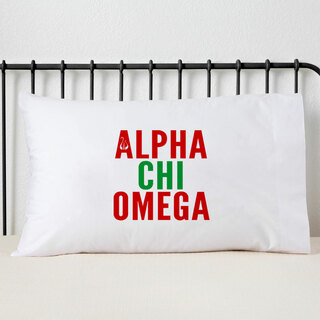 Alpha Chi Omega Name Stack Pillow Cover