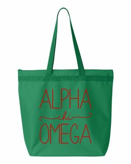 Alpha Chi Omega New Handwriting Tote Bag