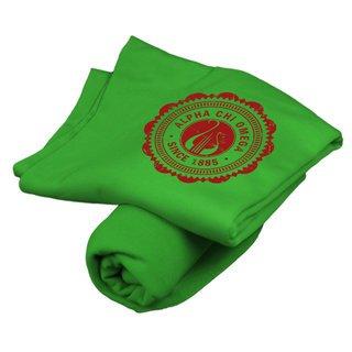 Alpha Chi Omega Old School Seal Sweatshirt Blanket