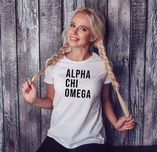 Alpha Chi Omega Left Align T-Shirt