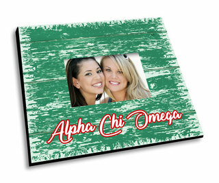 Alpha Chi Omega Painted Fence Picture Frame