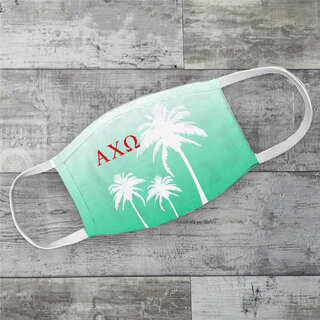 Alpha Chi Omega Palm Trees Face Mask